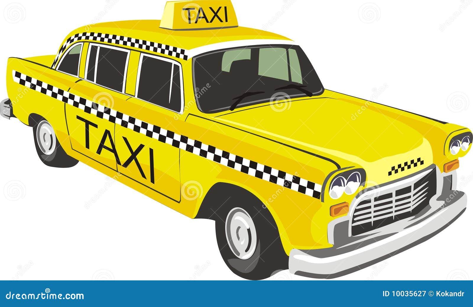 желтый цвет таксомотора