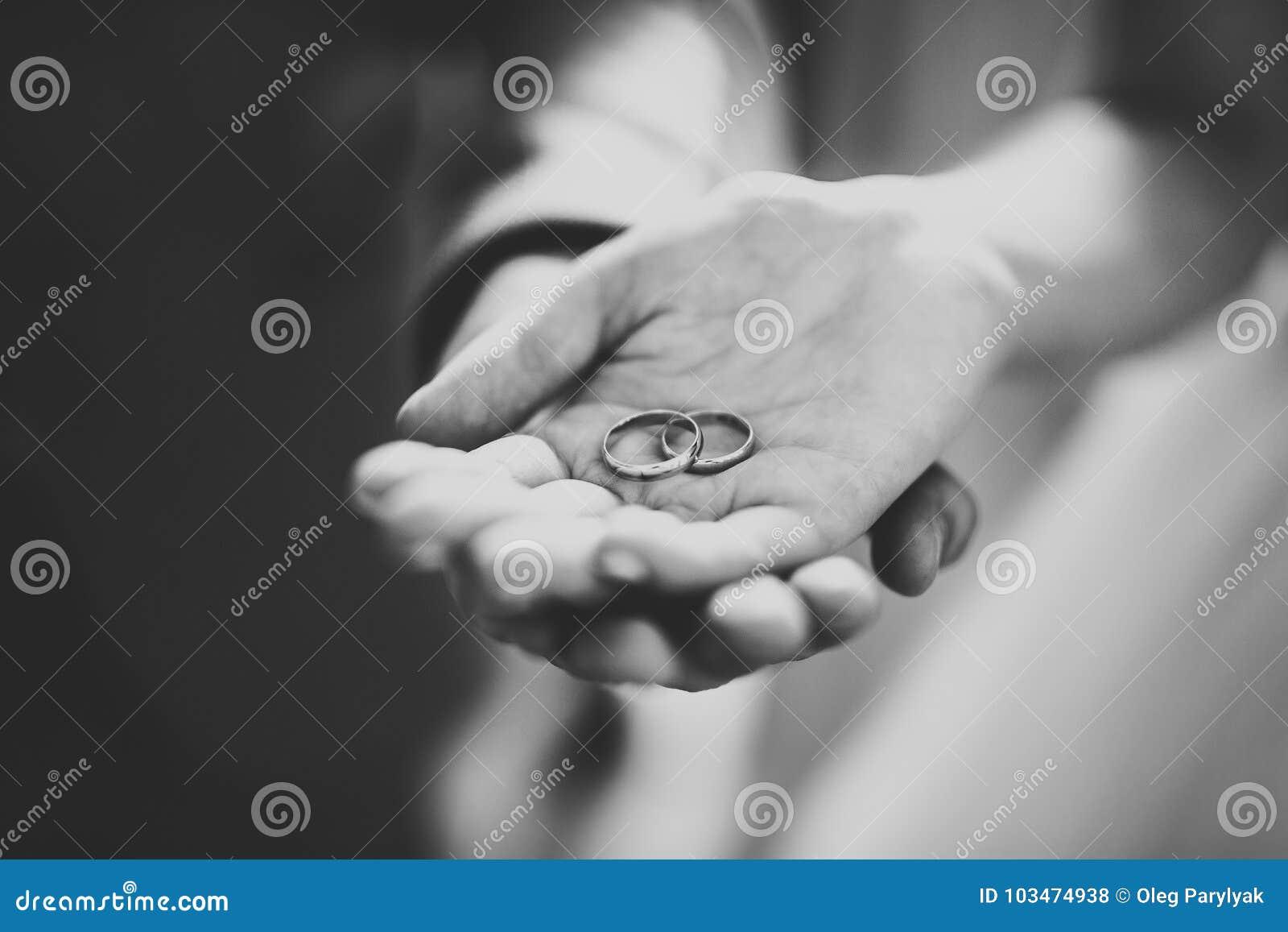 Жених и невеста обменивая обручальные кольца Стильная церемония должностного лица пар