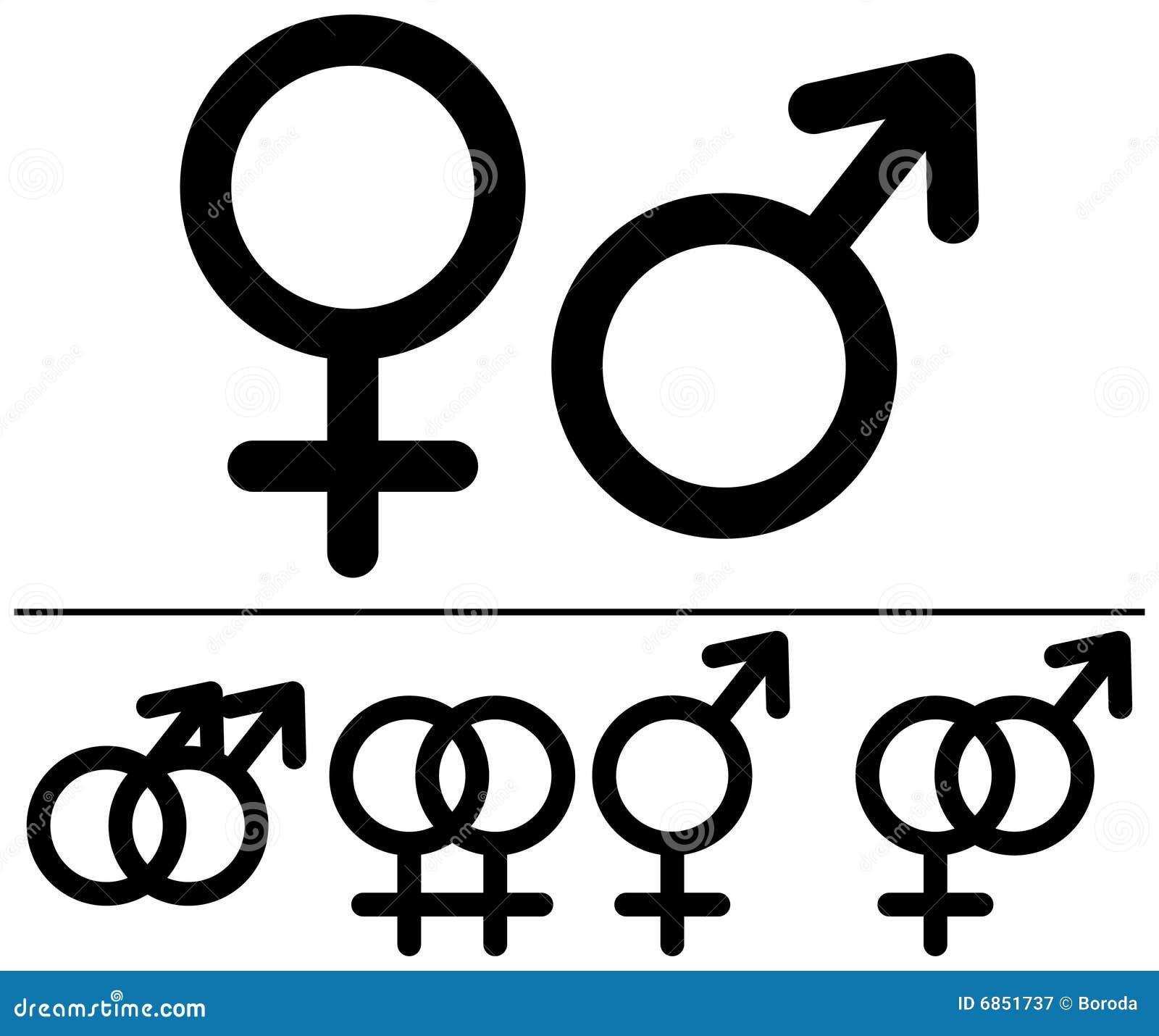 женские мыжские символы