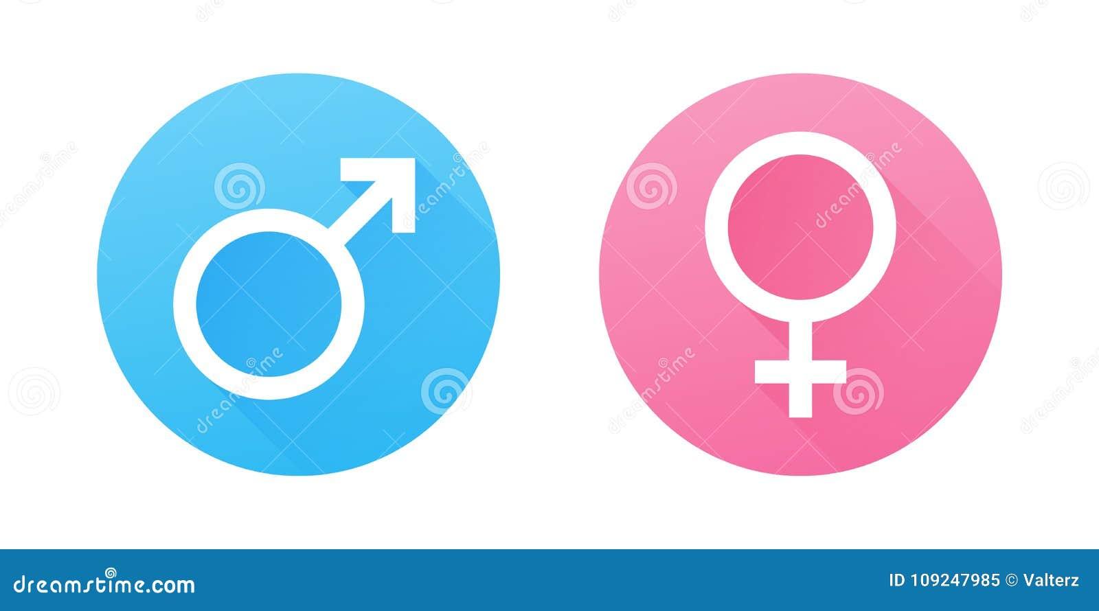женские символы мужчины рода Плоские значки вектора дизайна