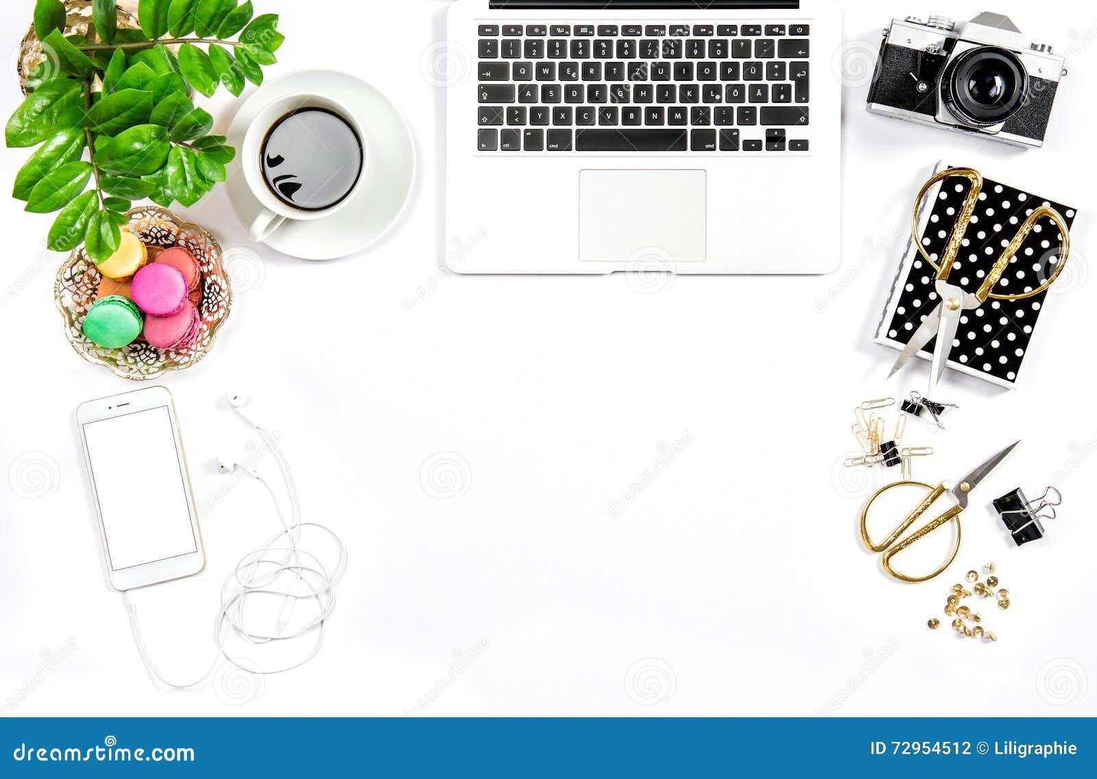 Женственные средства массовой информации social заголовка героя дела стола домашнего офиса