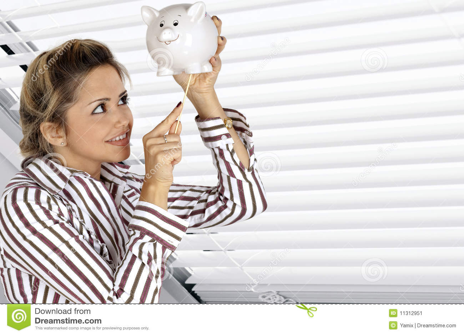 женщина банка piggy