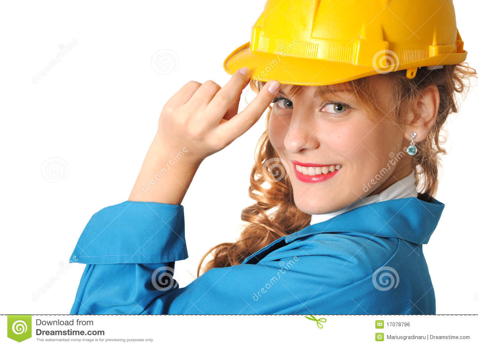 женщина безопасности шлема дела