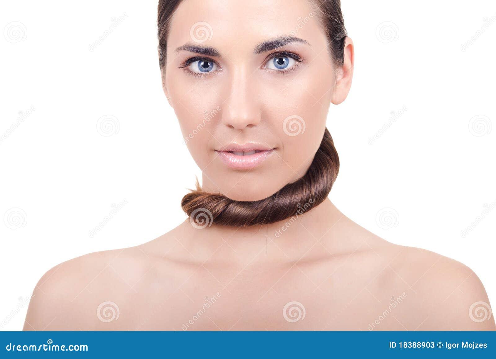 женщина волос шелковистая