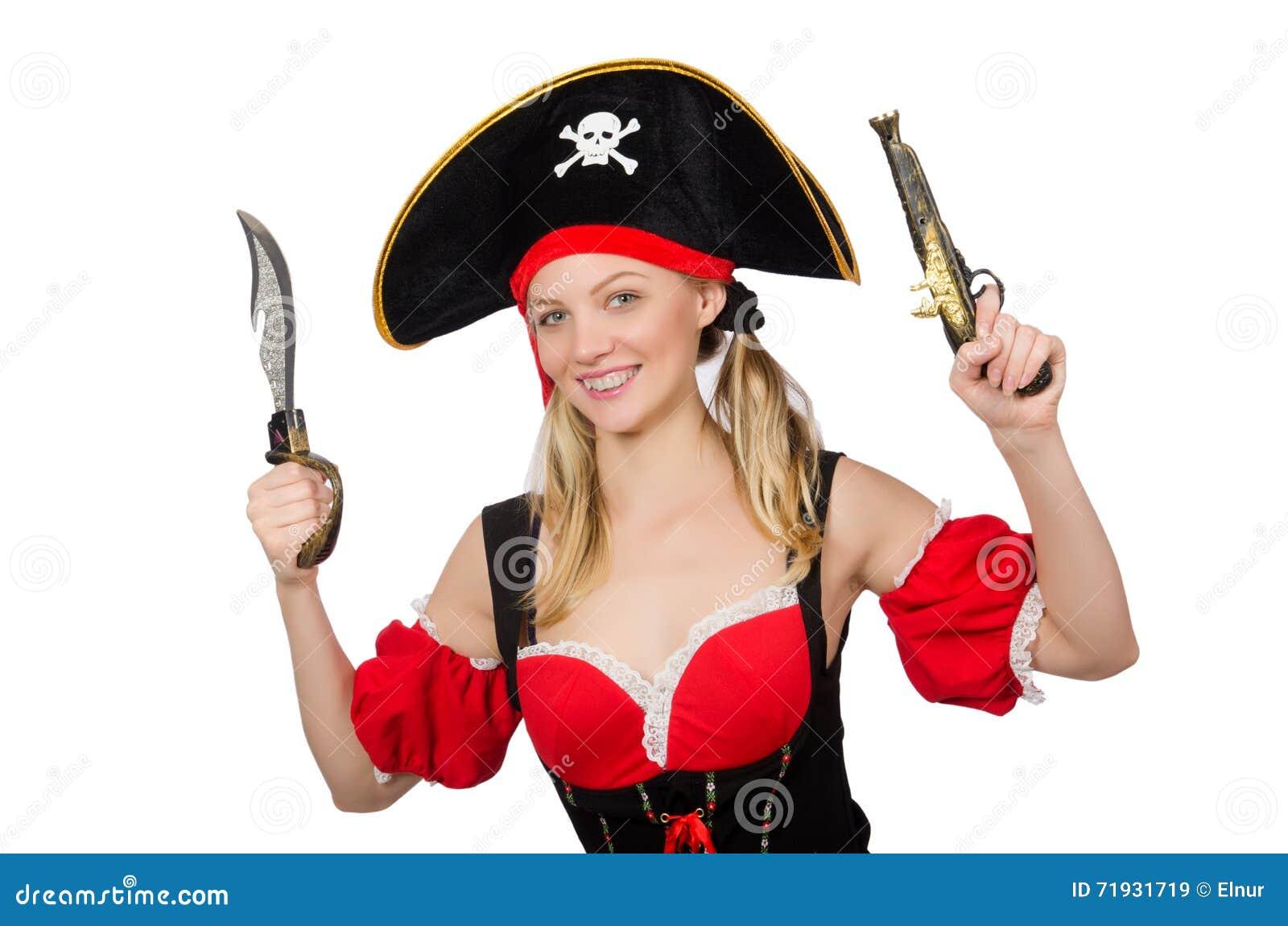 Женщина в костюме пирата - концепции хеллоуина