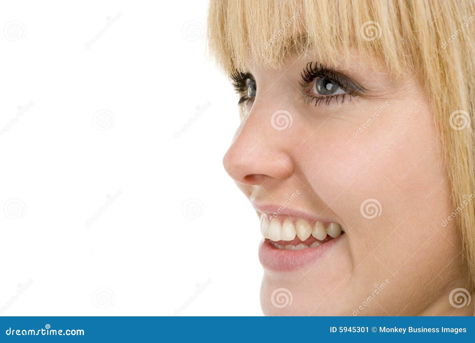 женщина головной съемки ся