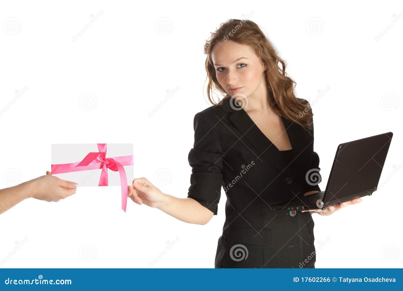 Открытка, открытка деловой женщине
