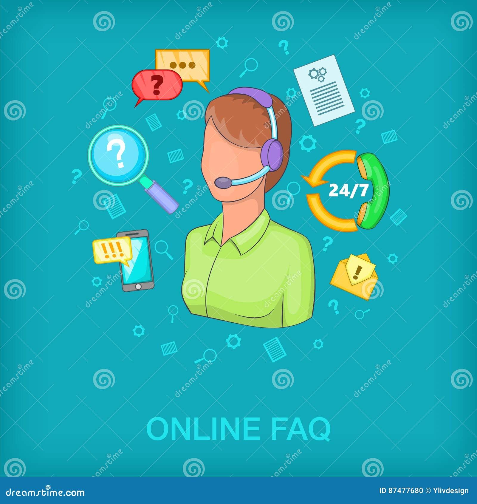Женщина концепции центра телефонного обслуживания, стиль шаржа