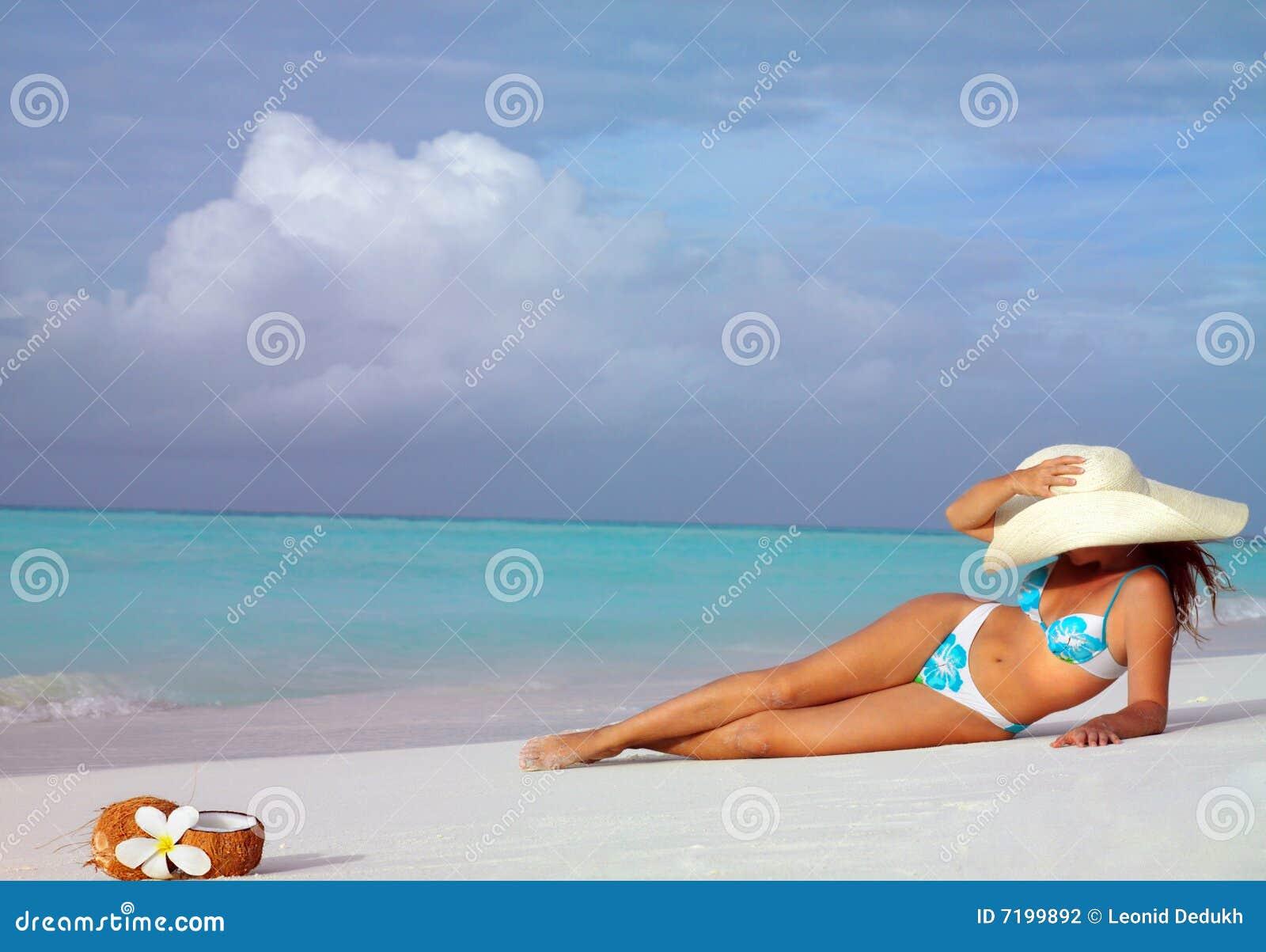 женщина пляжа
