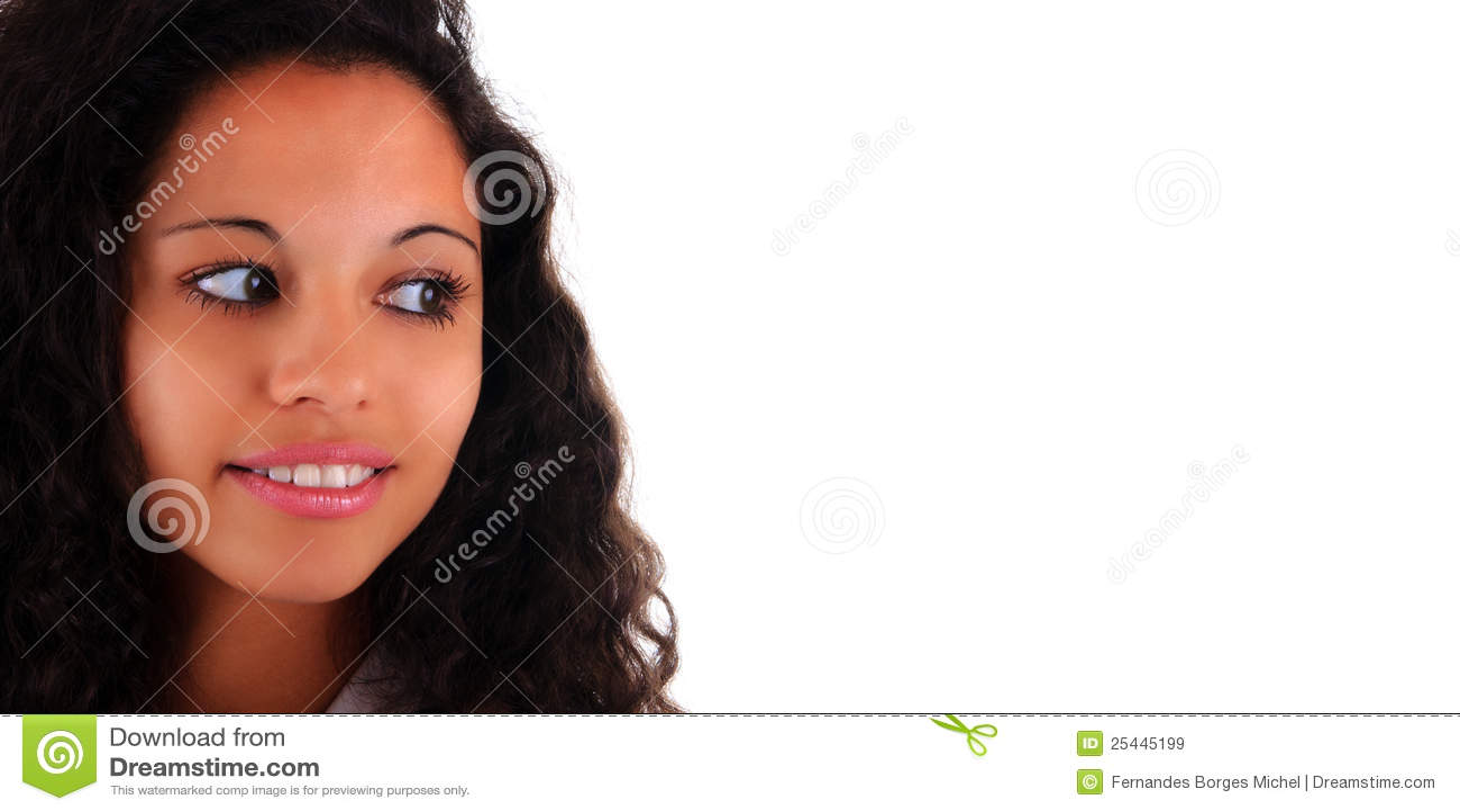 женщина портрета красивейших волос длинняя