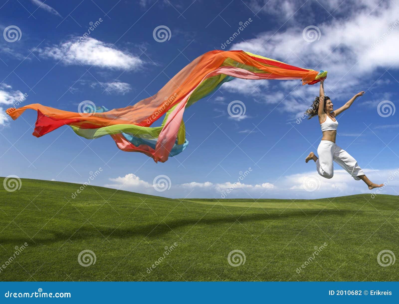 женщина радуги