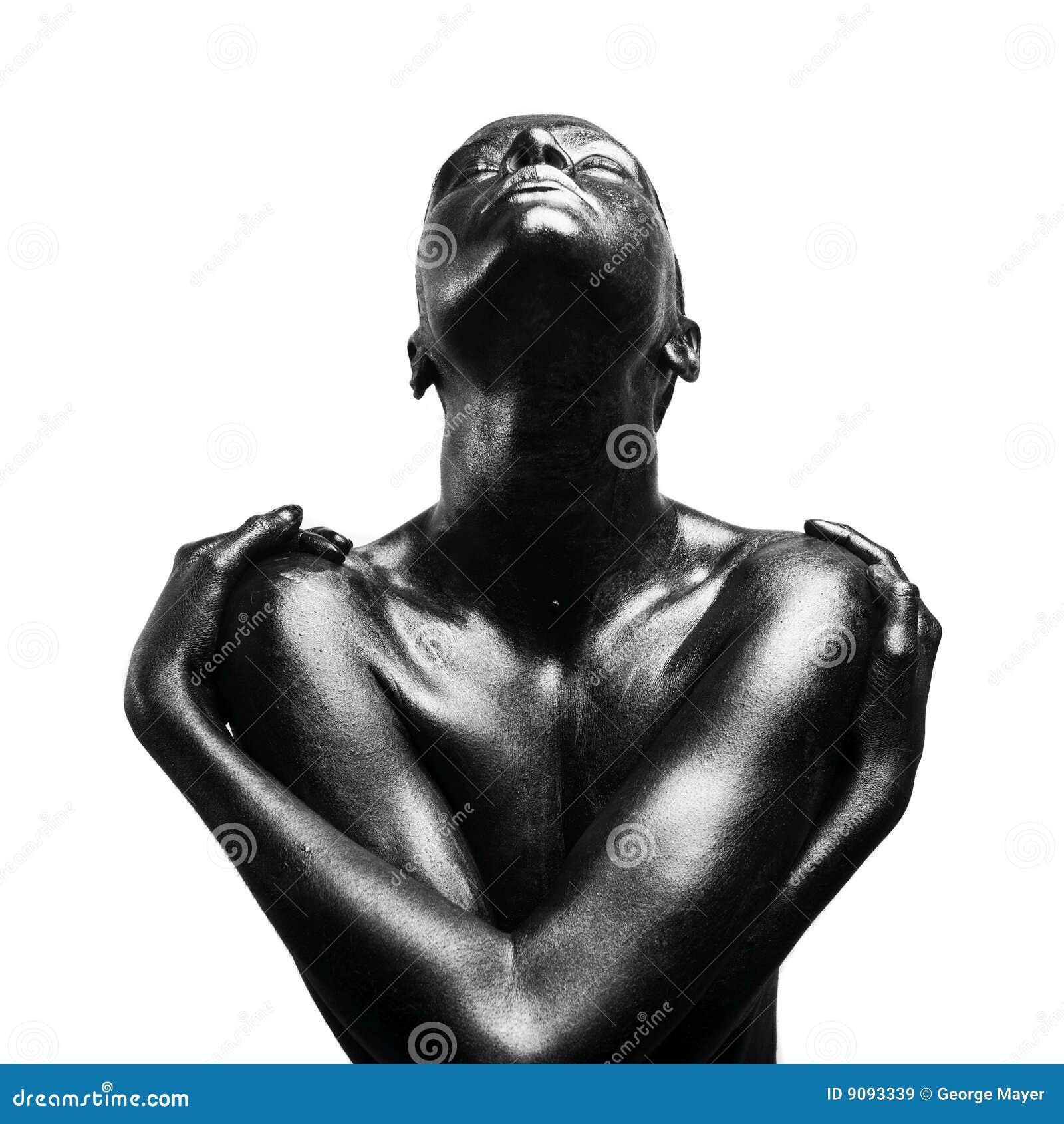 женщина составленная чернотой