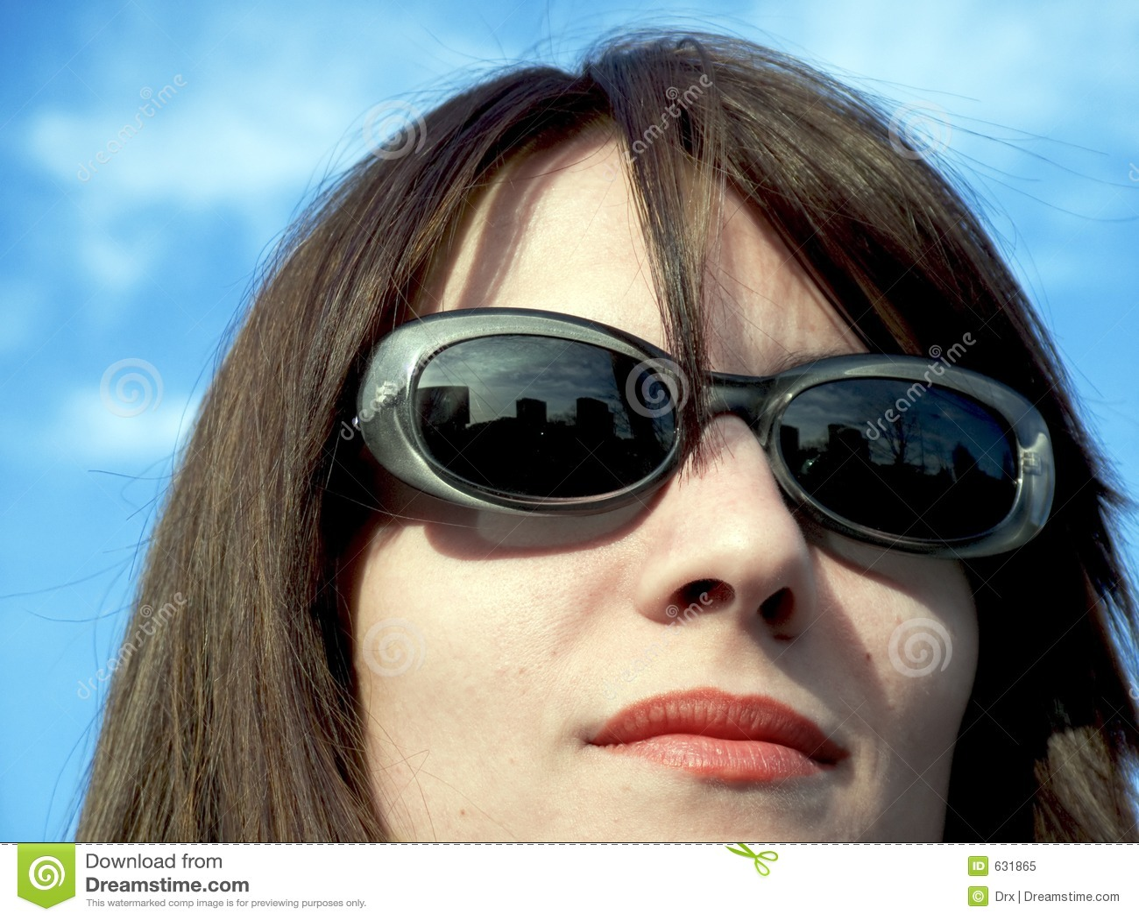 Download женщина стороны стоковое изображение. изображение насчитывающей усмешка - 631865