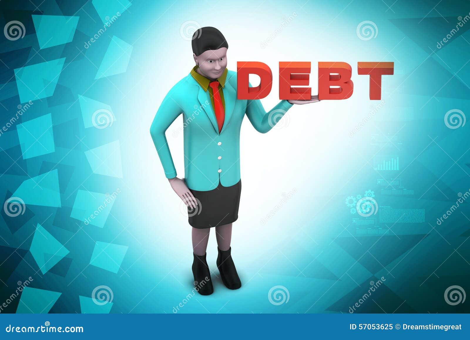 Женщина с задолженностью