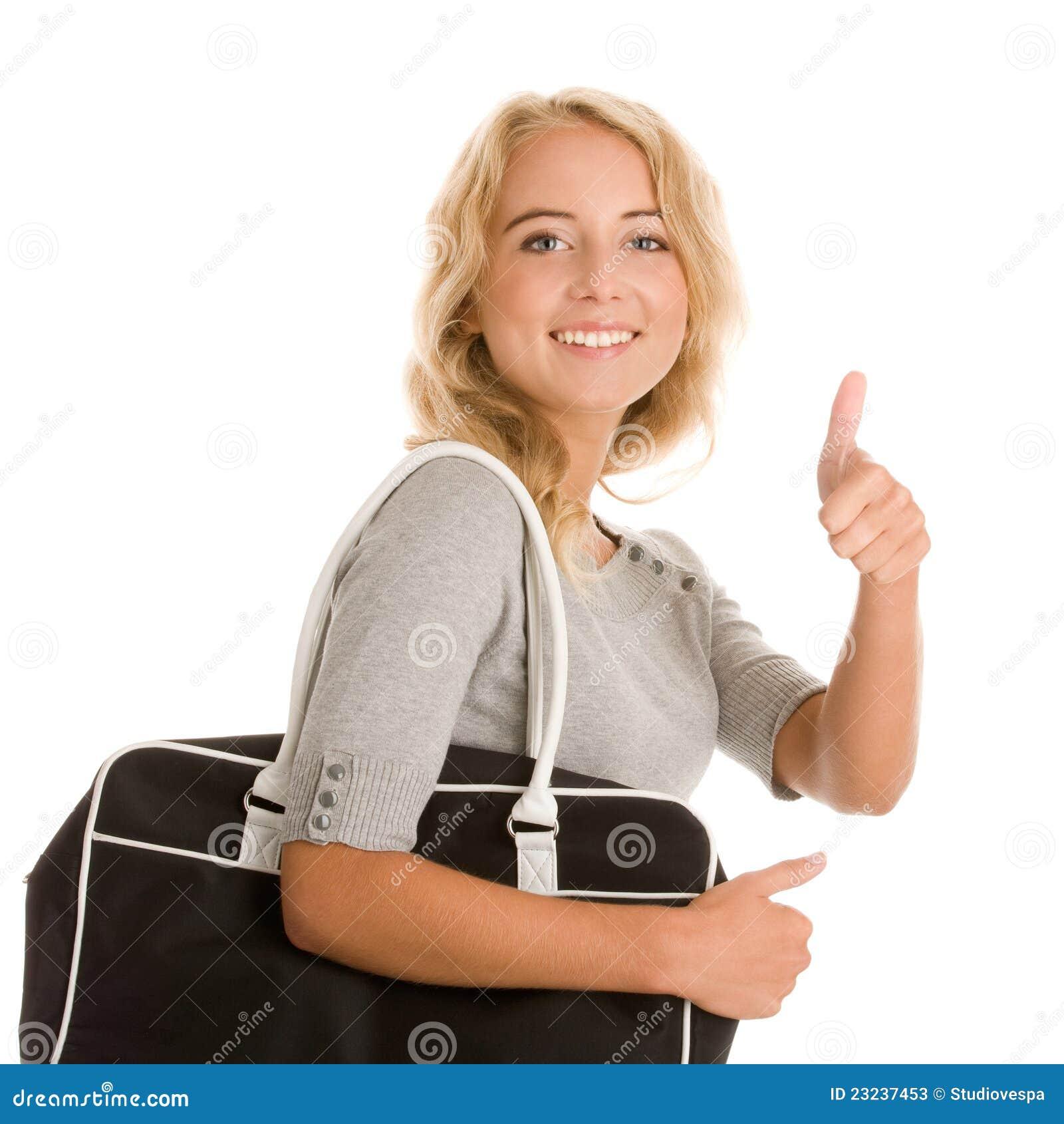 Женщина с мешком