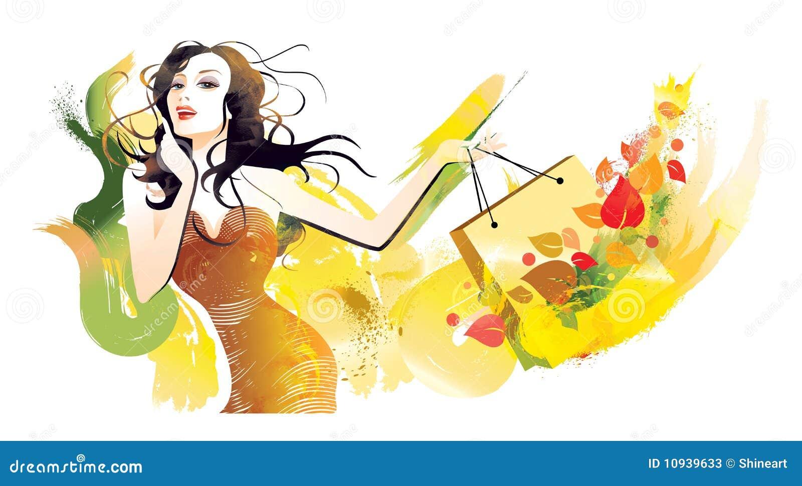 женщина танцульки щетки
