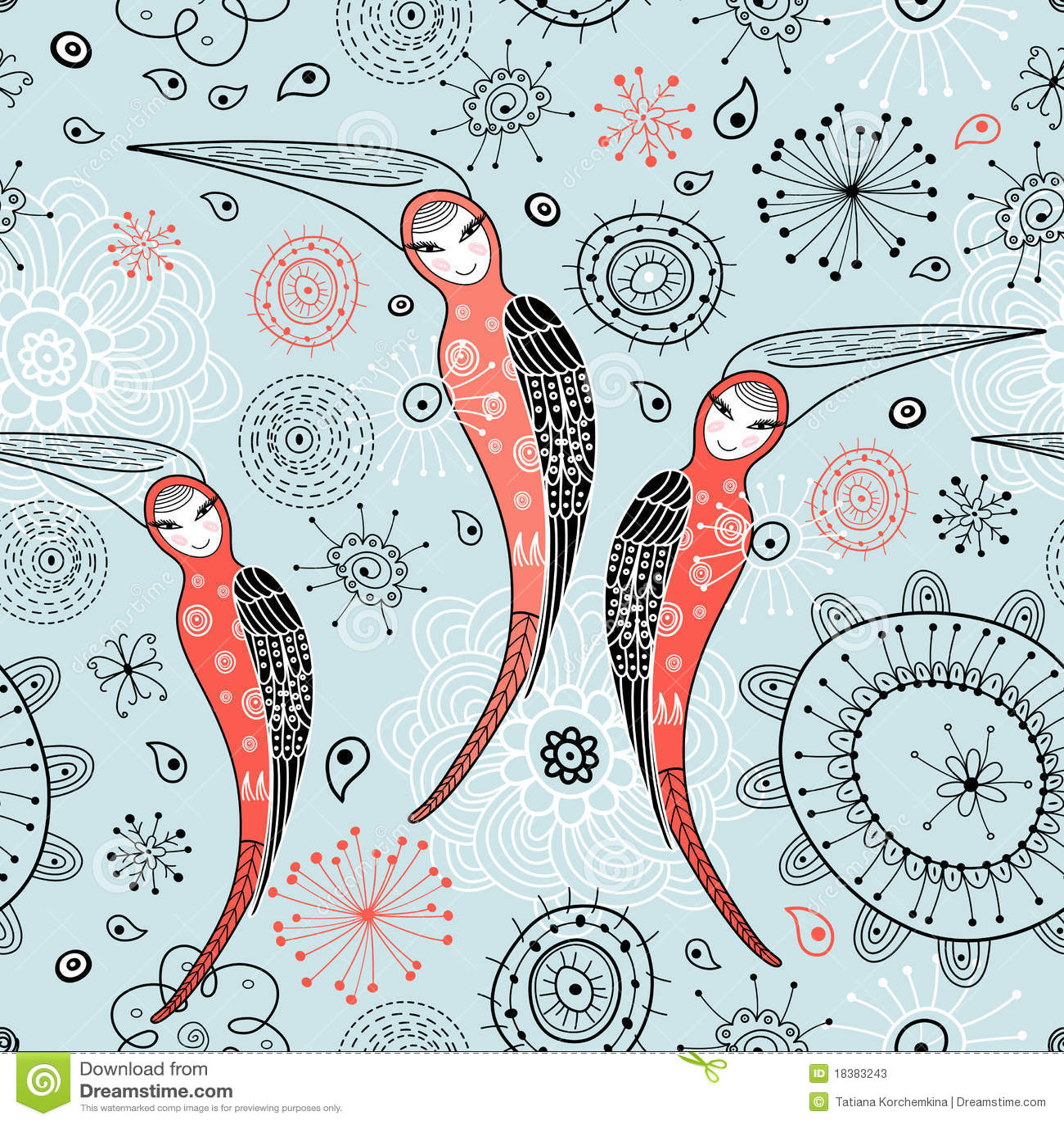 женщина текстуры птиц фантастичная