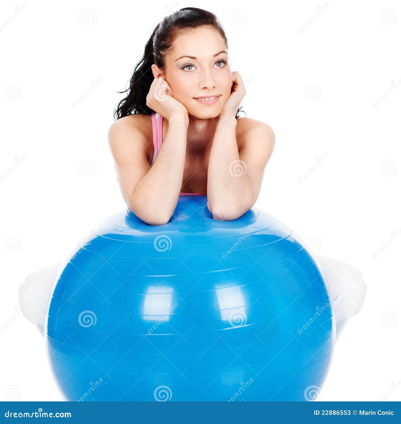 женщина шарика большая полагаясь