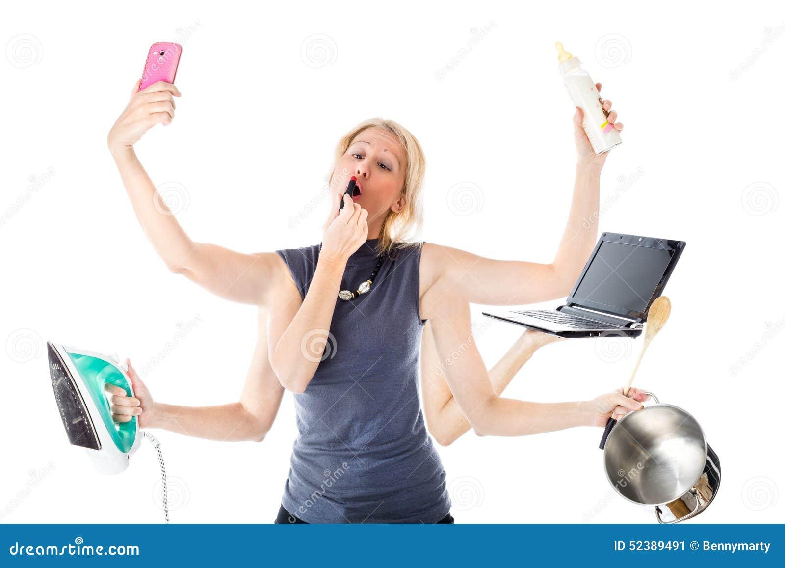Женщина Multitasking