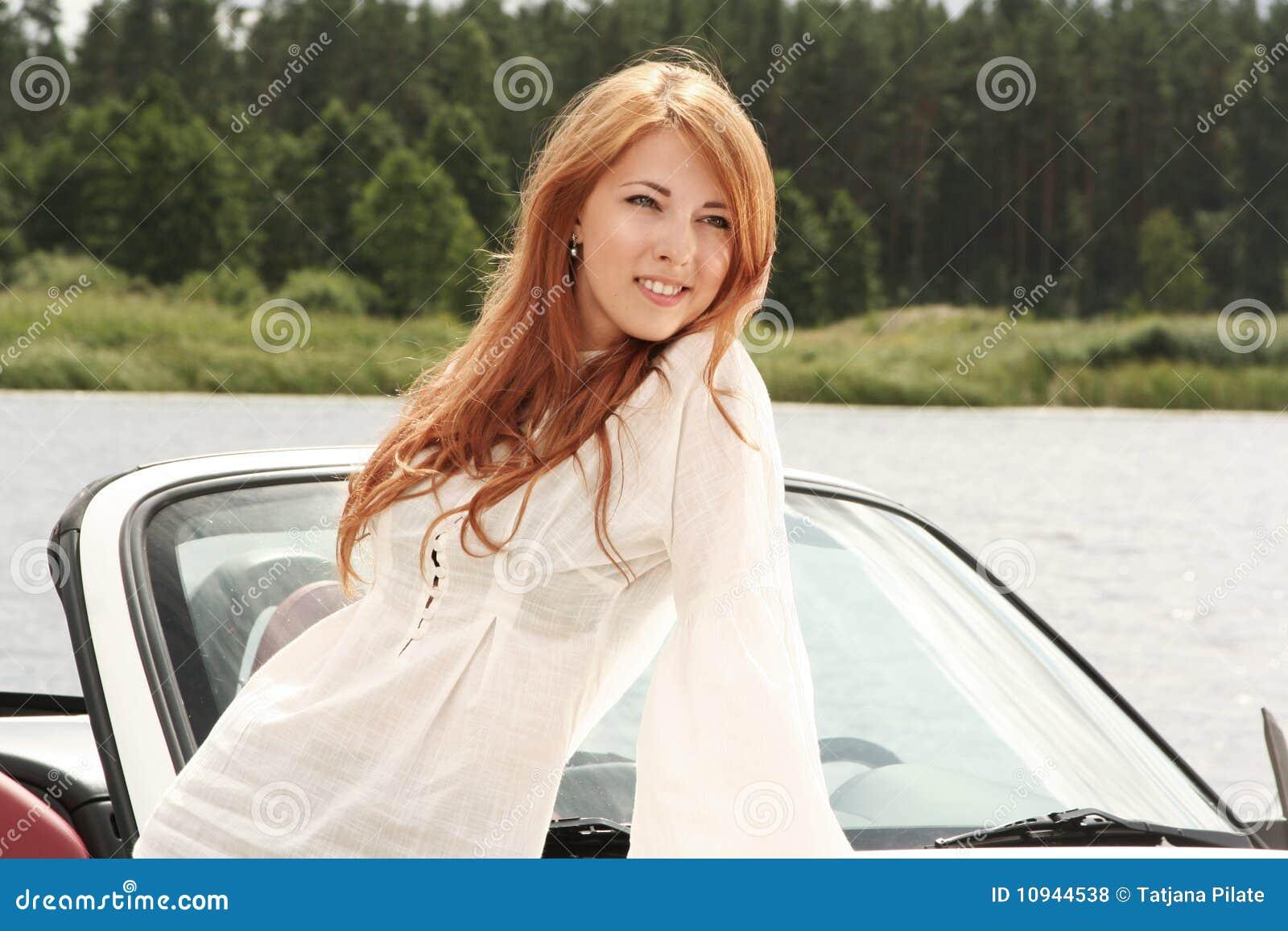 женщина redhead