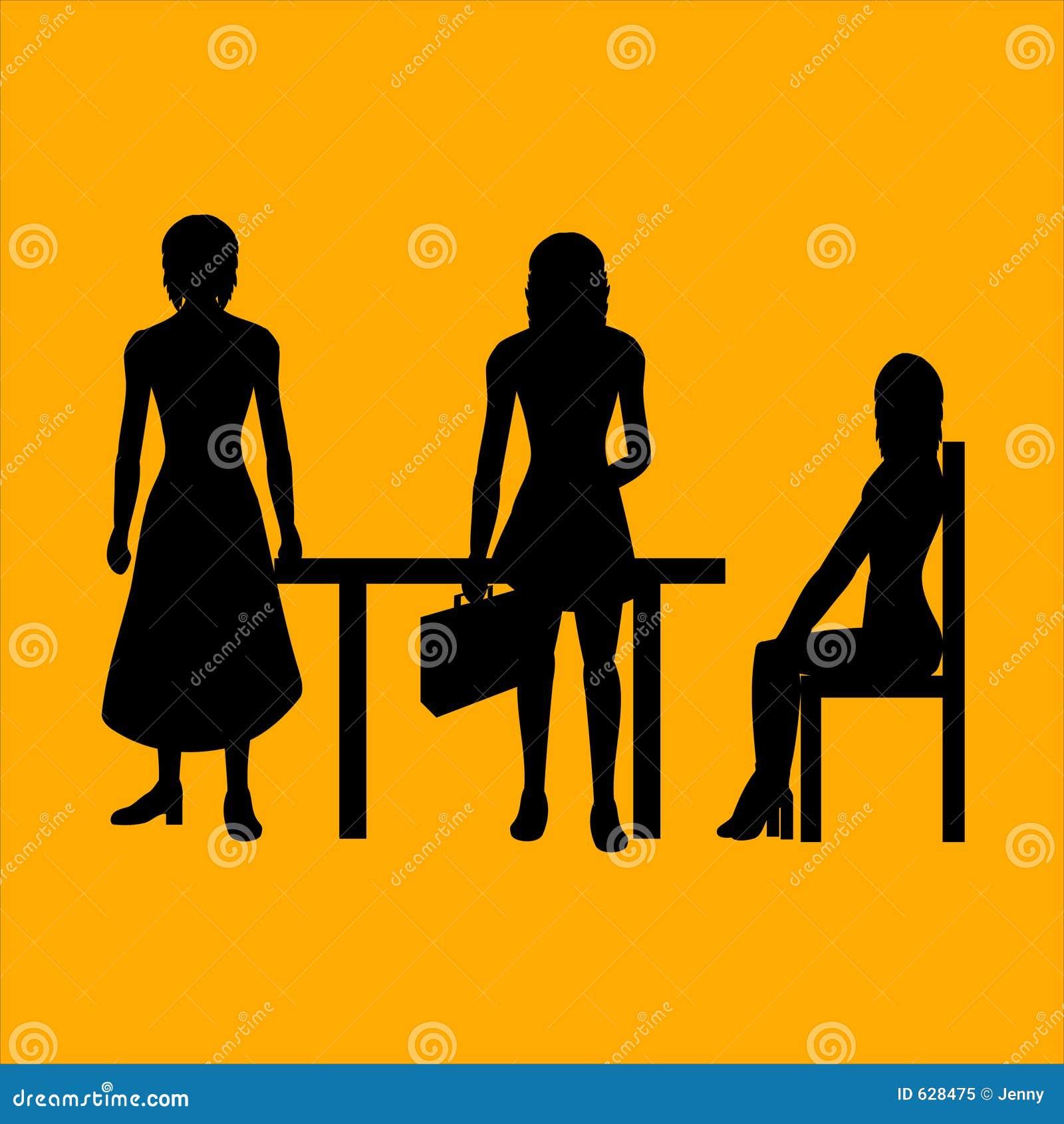 Download женщины дела иллюстрация вектора. иллюстрации насчитывающей группа - 628475