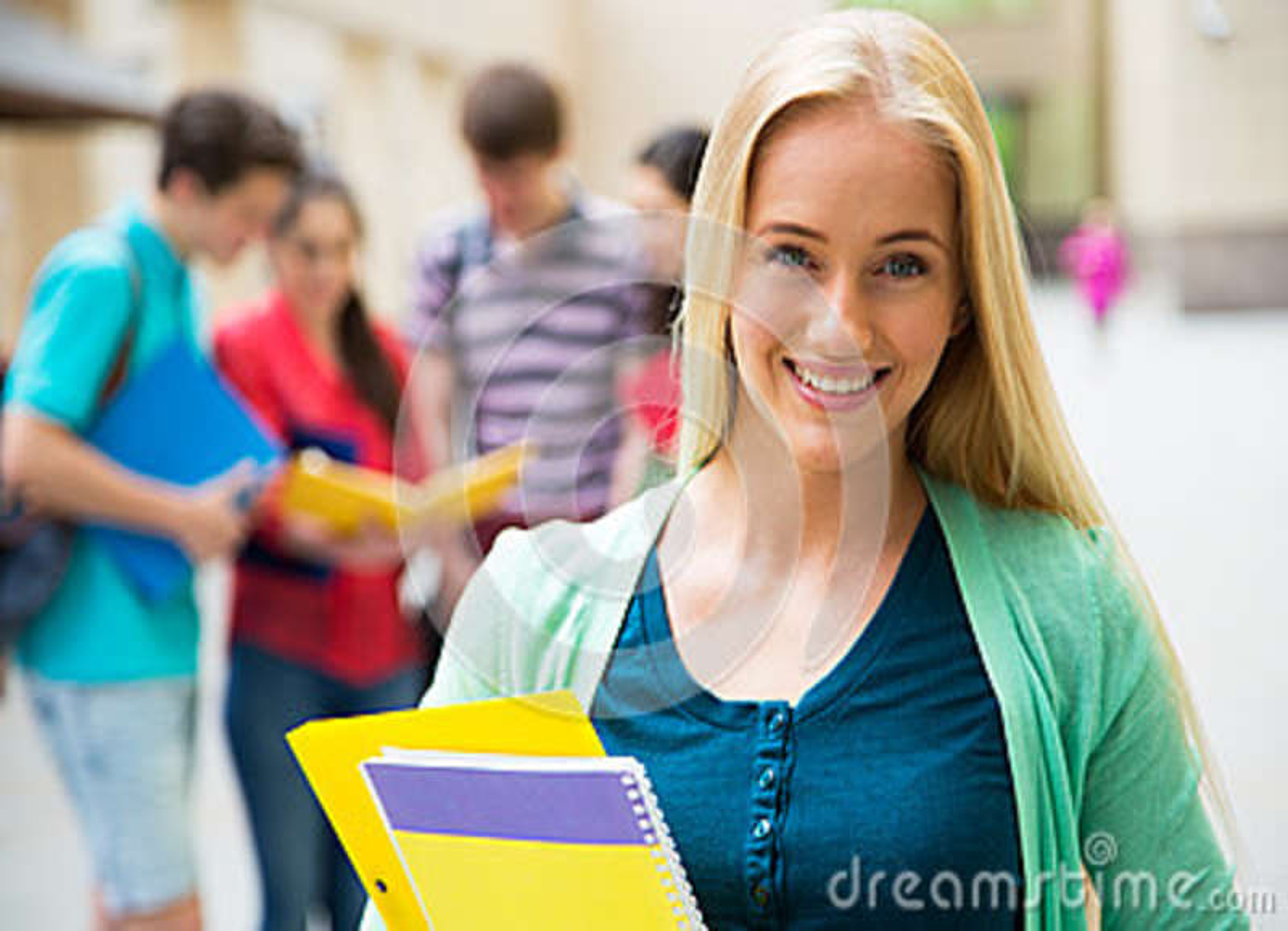женщины студент outdoors