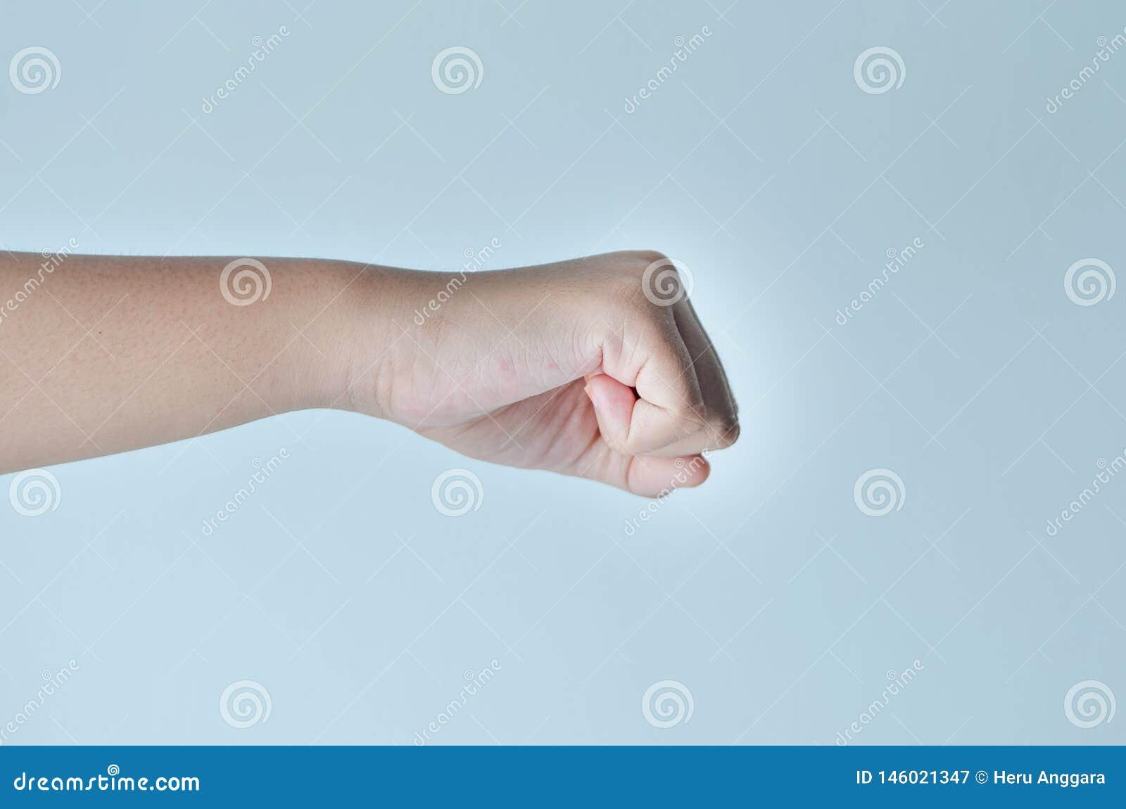Жест кулака руки