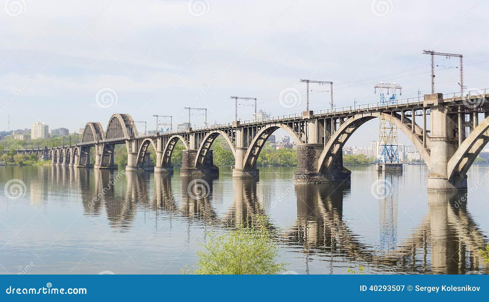 Железнодорожный мост над рекой