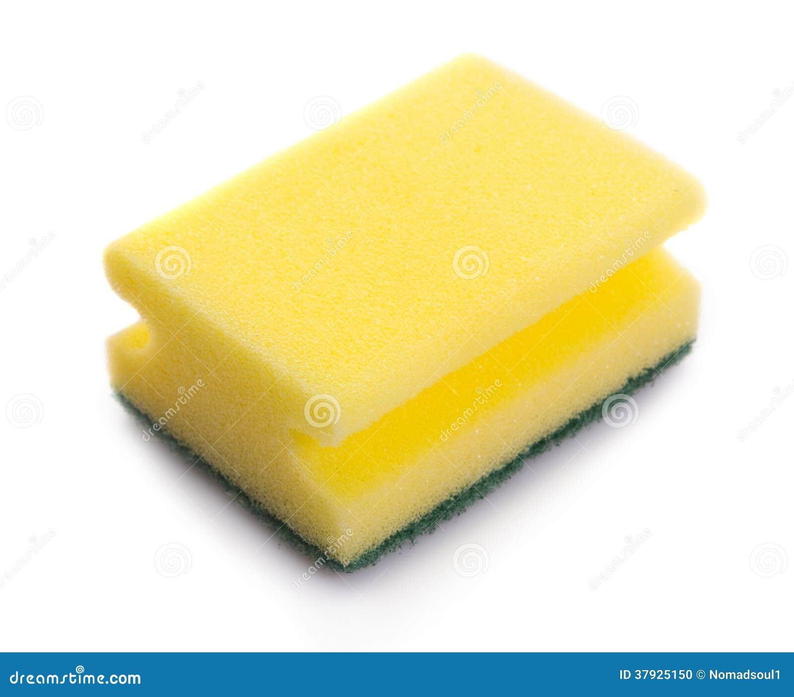 Желтая губка на белизне
