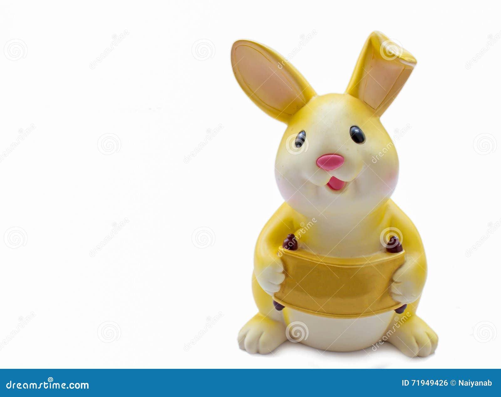 Желтая копилка кролика