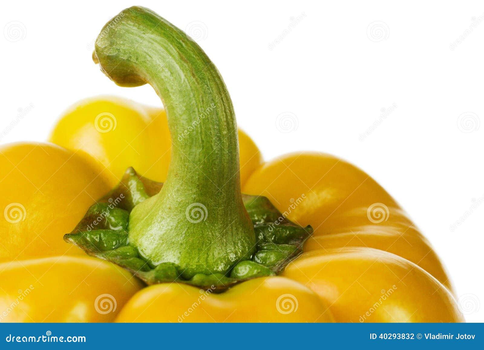 Желтый крупный план перца