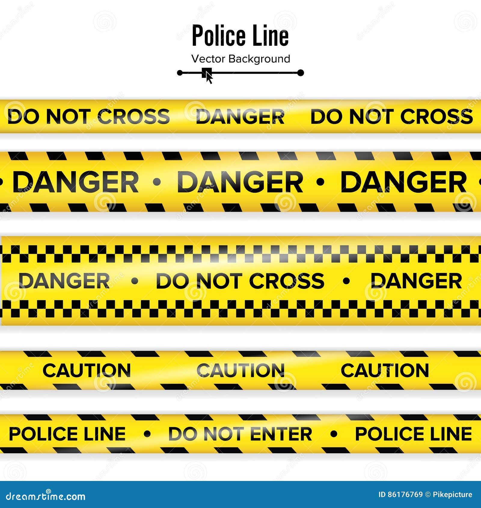 Желтый цвет с черной линией полиции Не пересеките, опасность, предосторежение Ленты карантина безопасностью опасности Изолировано