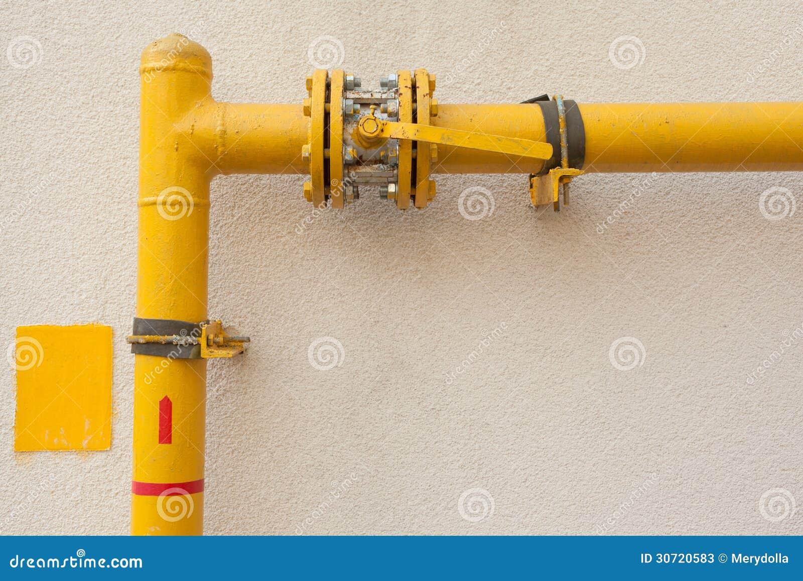 желтый цвет трубы газа