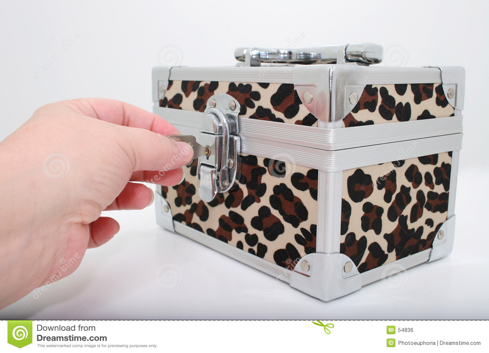 животная печать замка коробки