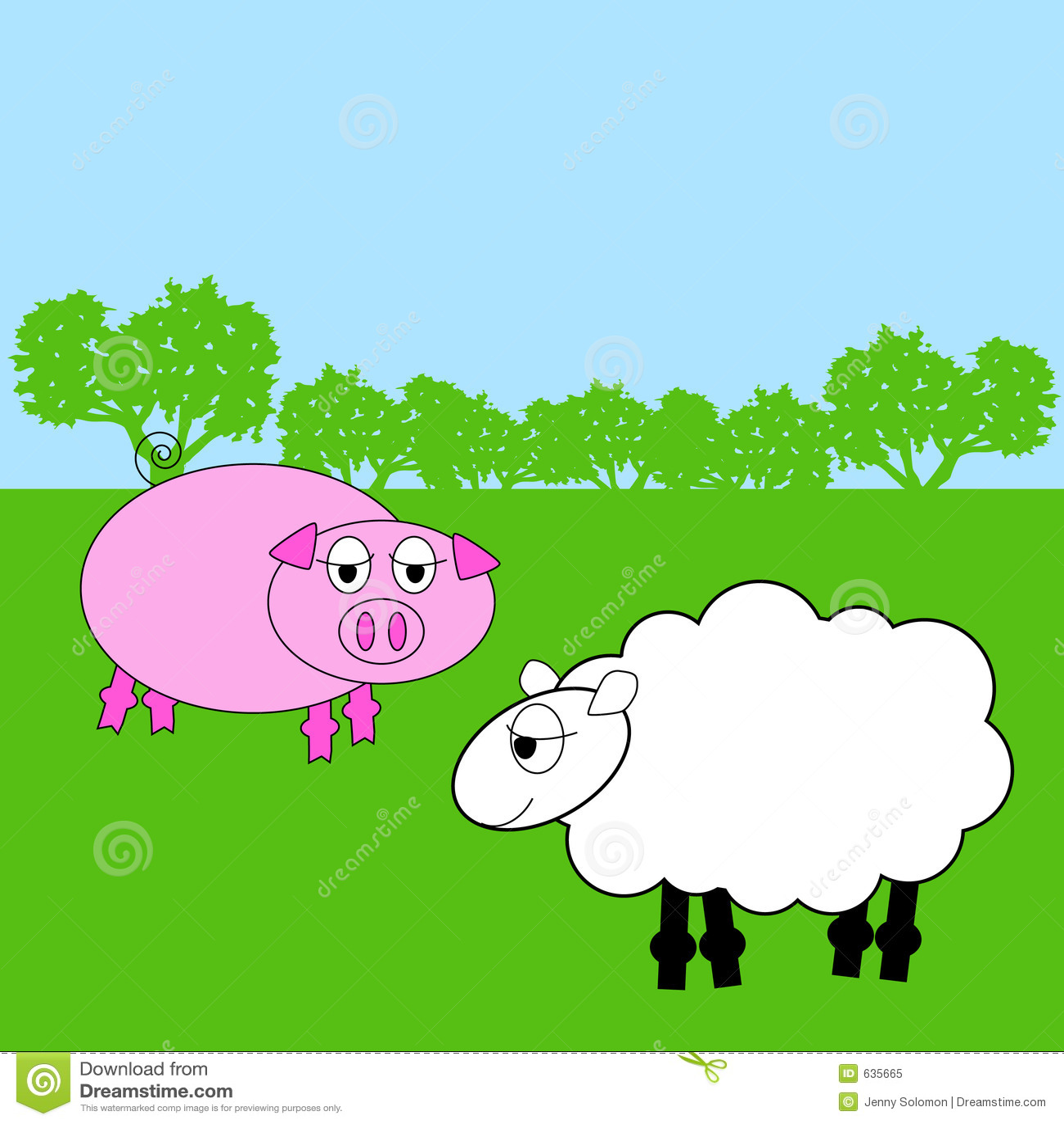 Download животная ферма иллюстрация вектора. иллюстрации насчитывающей смешно - 635665