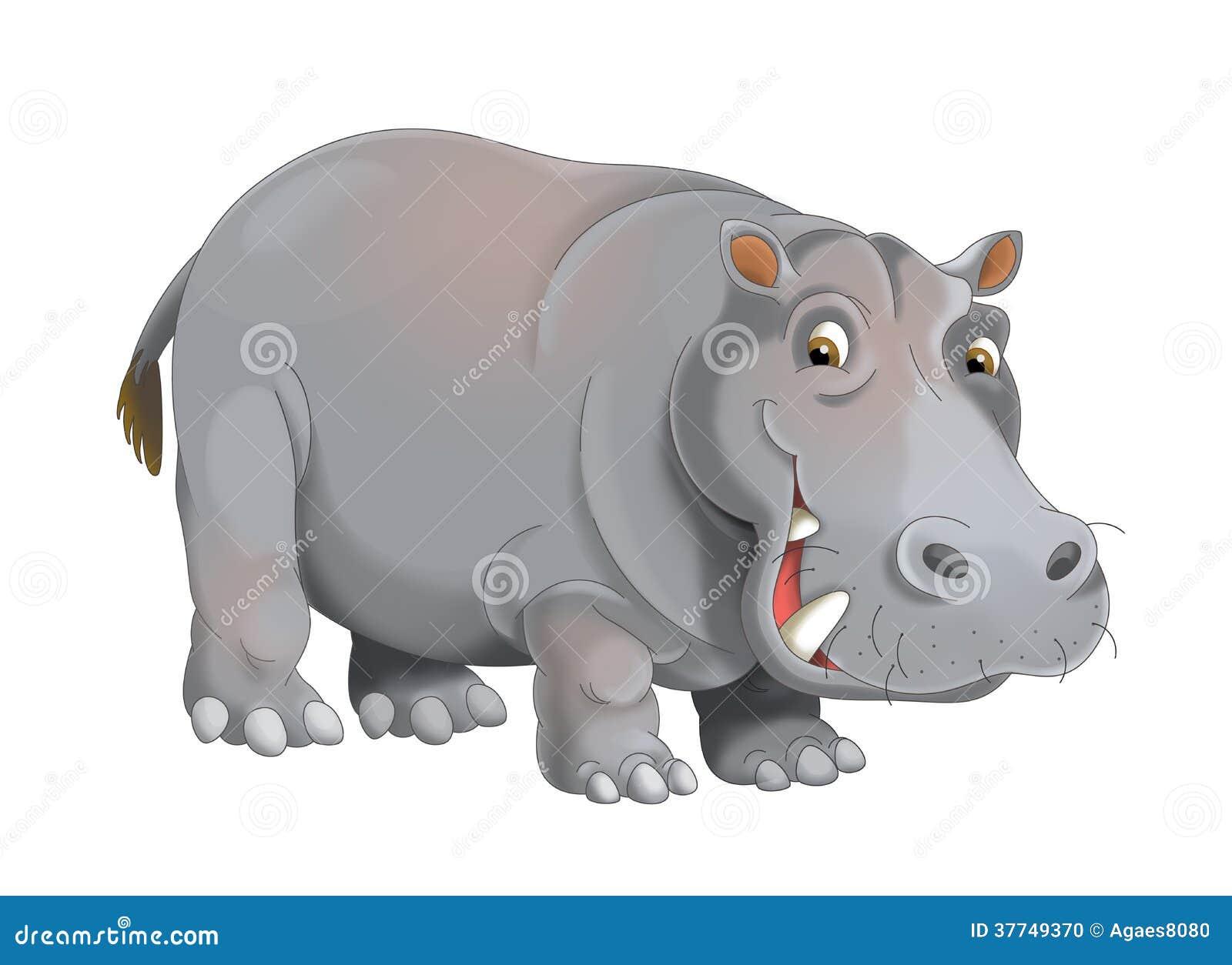 Животное шаржа - иллюстрация для детей