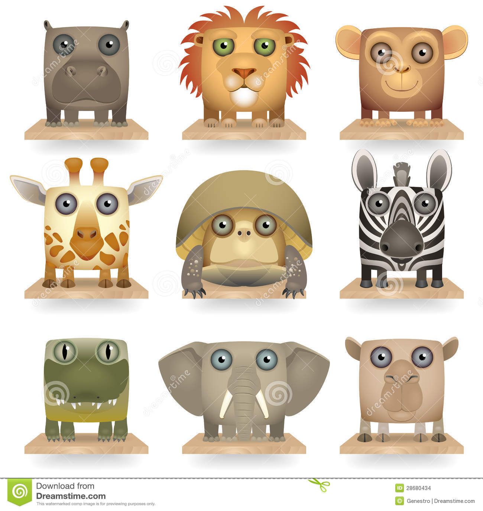 Икона диких животных установленная