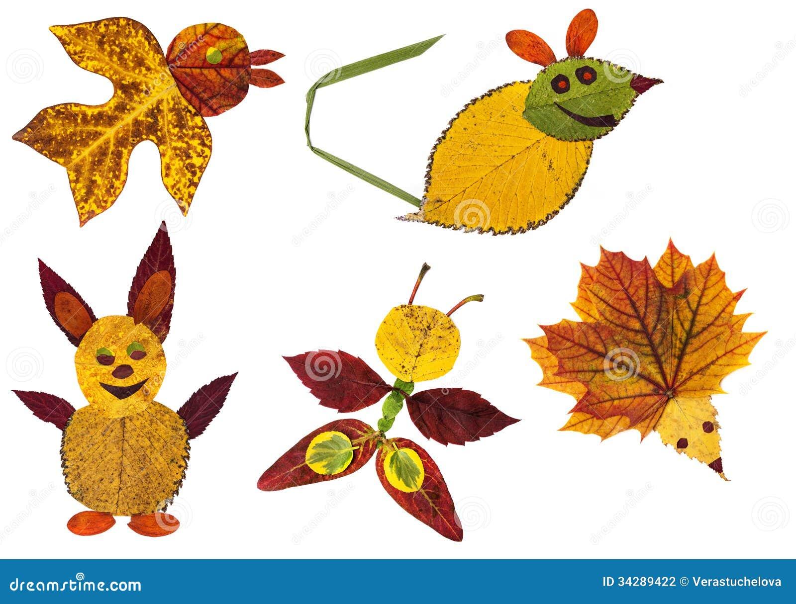 Как сделать поделку из сухих листьев своими руками