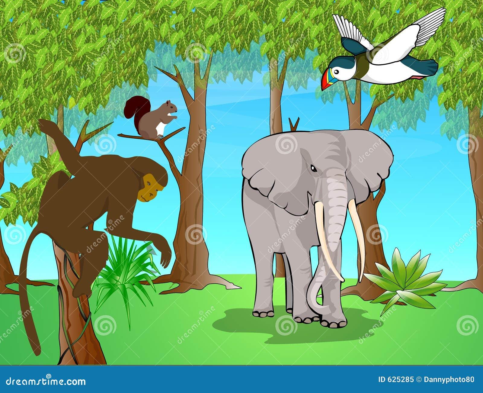 Download животные экзотические иллюстрация штока. иллюстрации насчитывающей папоротники - 625285