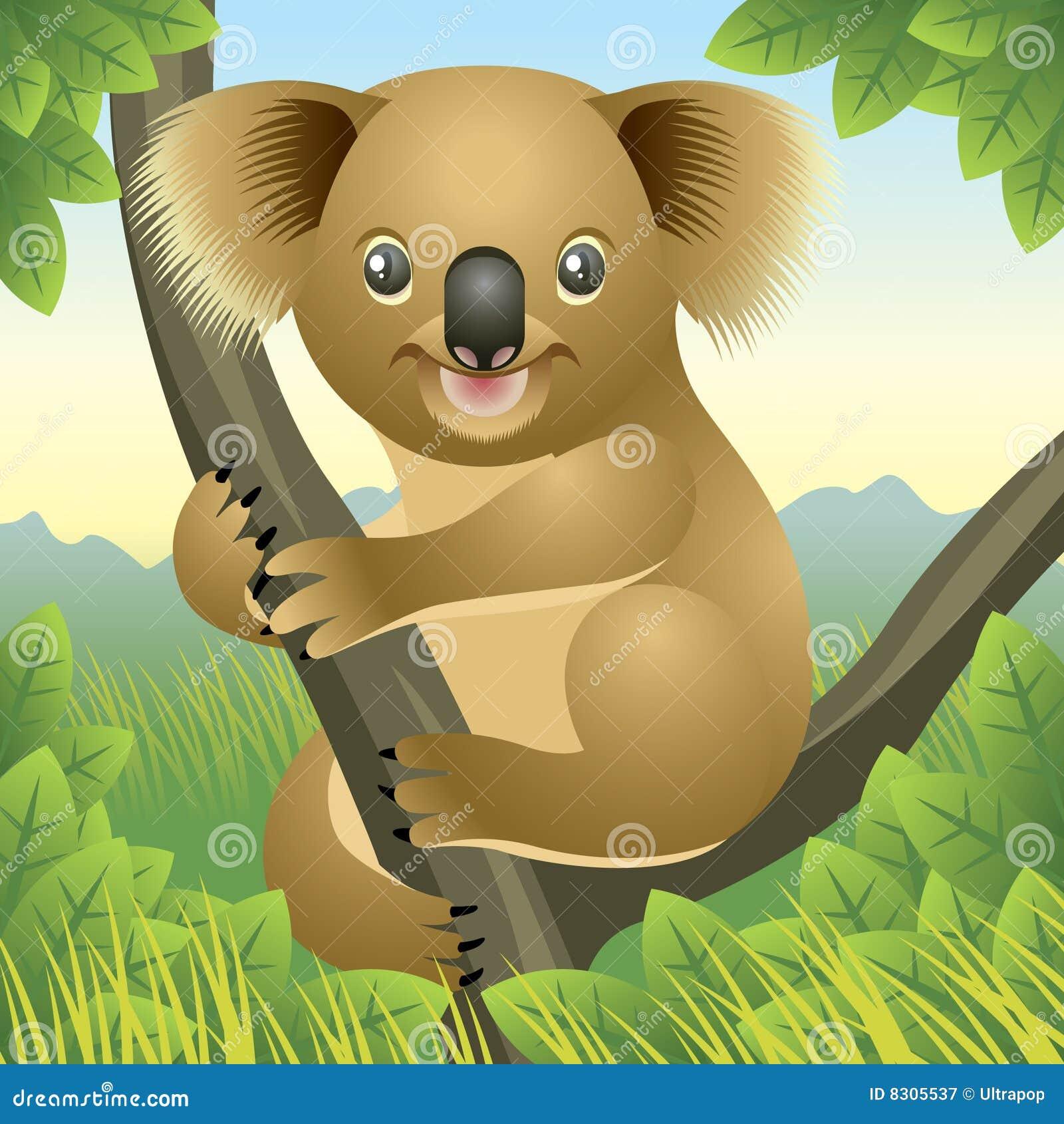 животный koala собрания младенца
