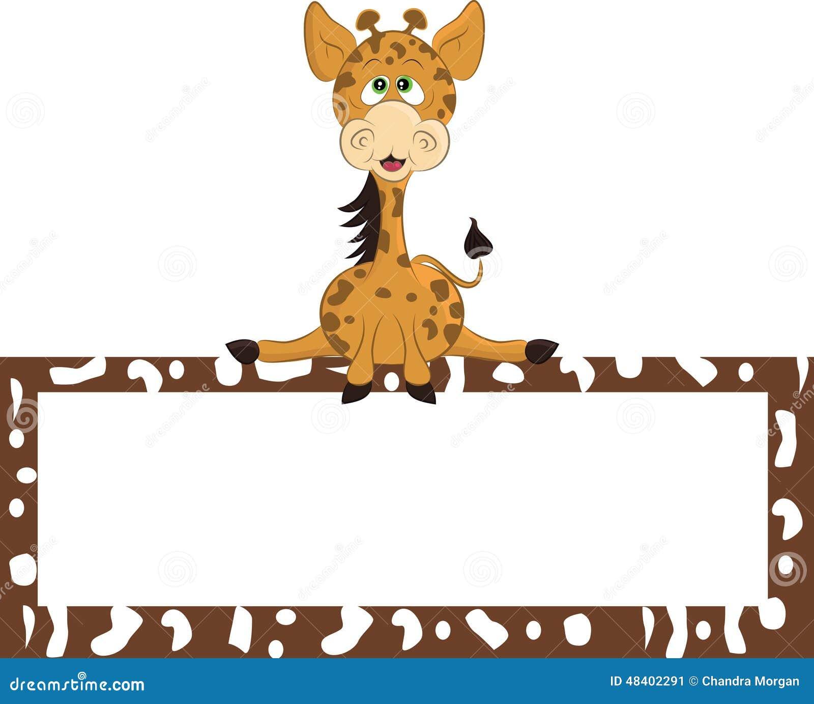 животный mammal giraffe шаржа одичалый