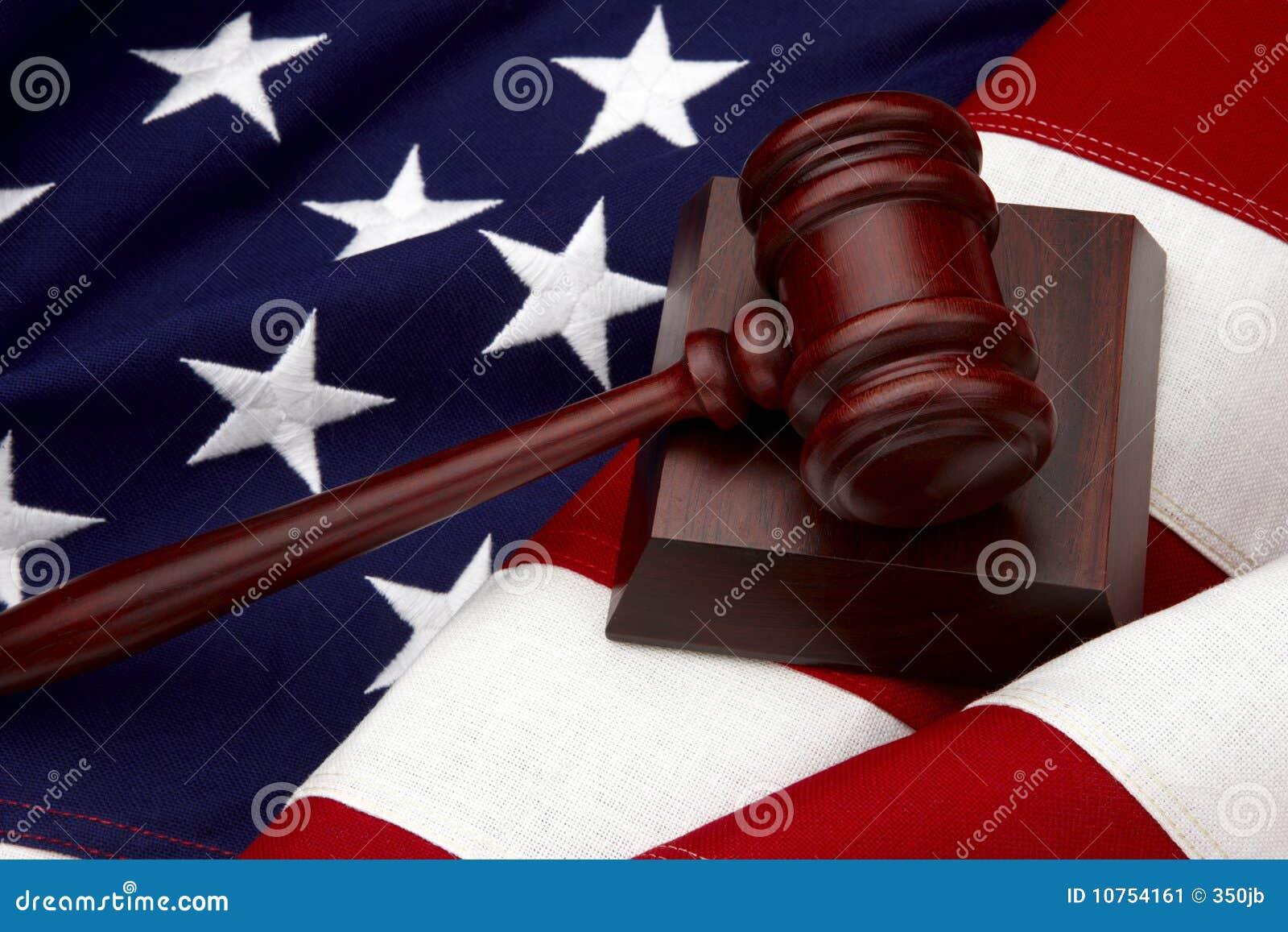 жизнь gavel американского флага все еще