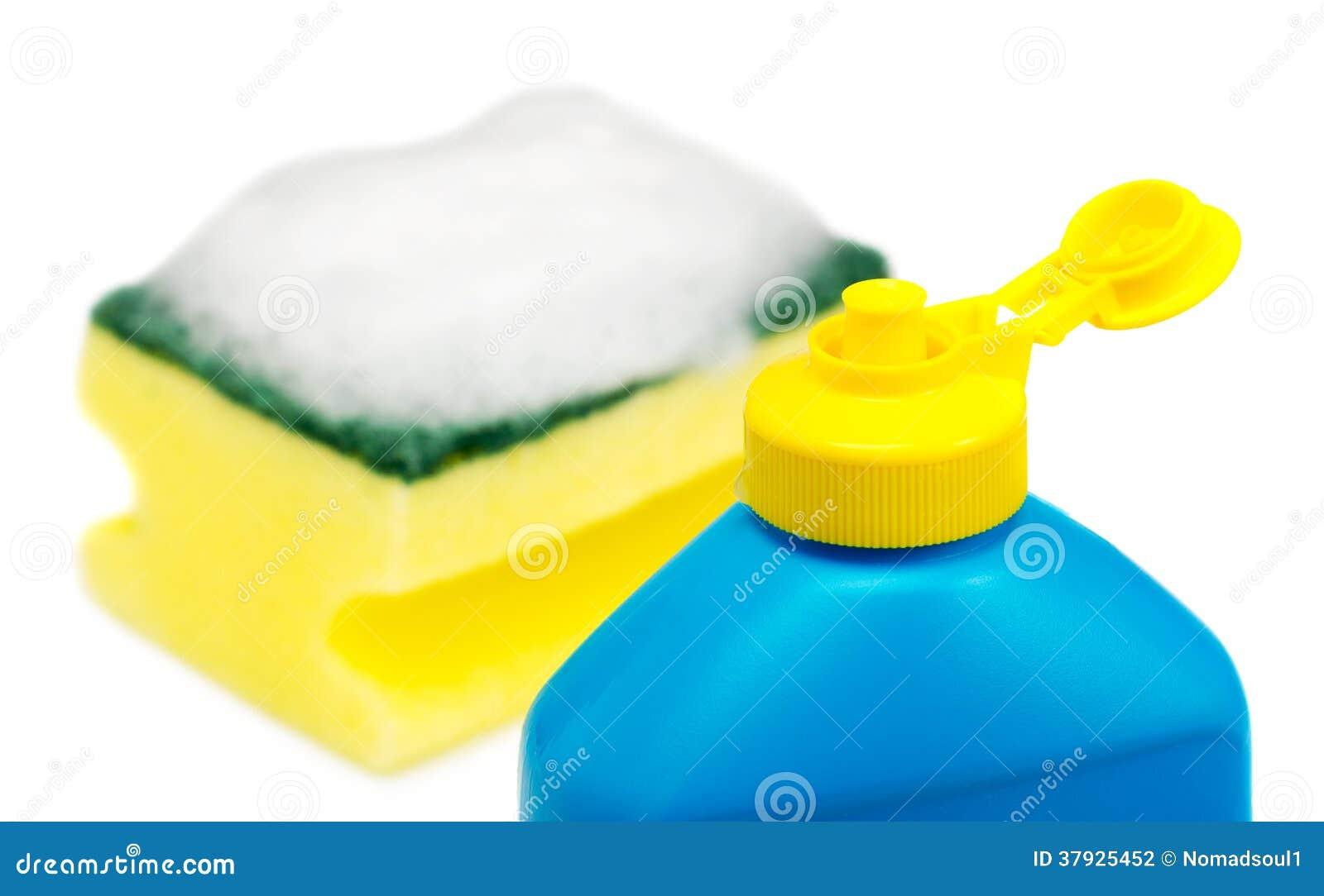 Жидкость и губка Dishwashing