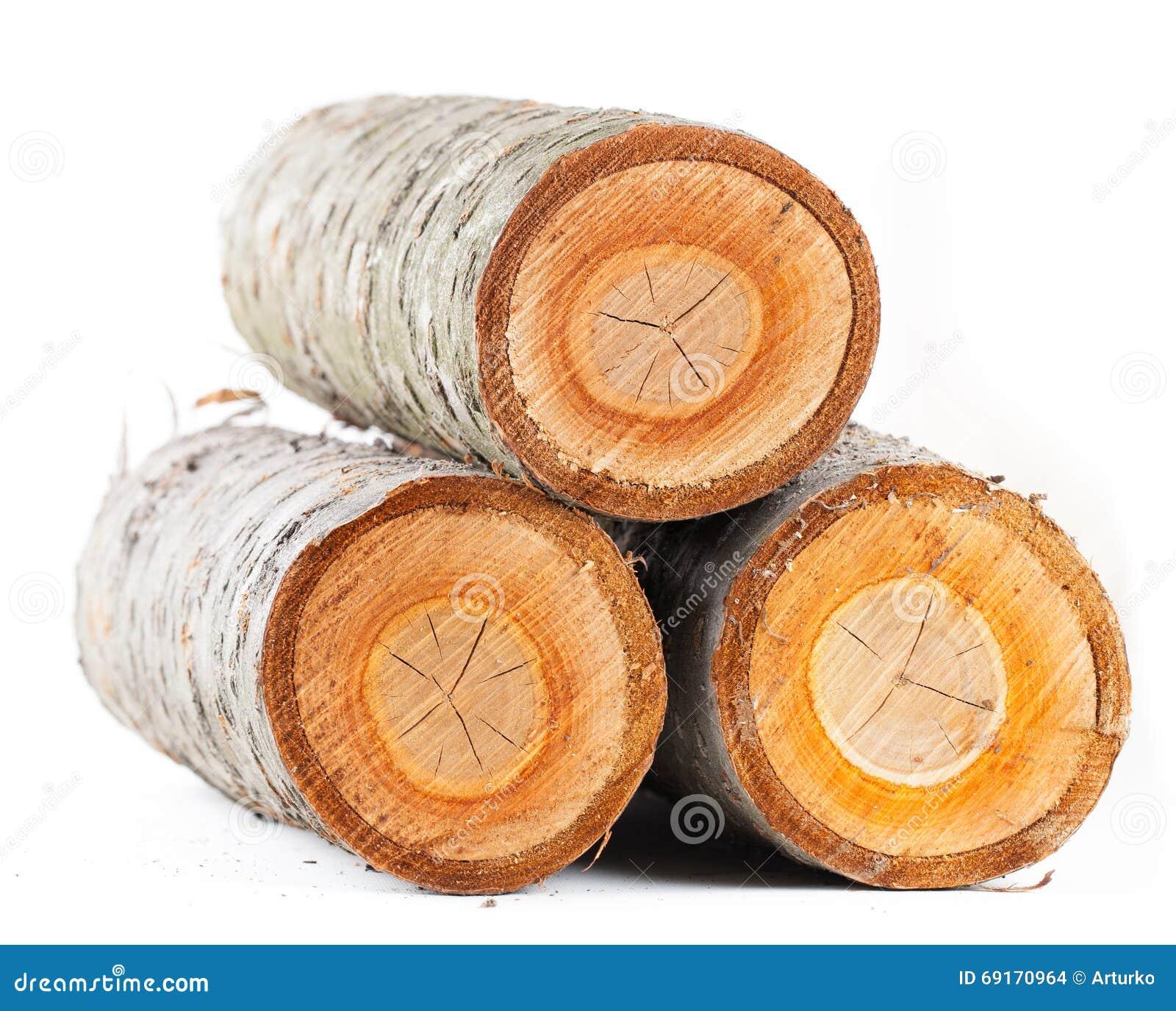 3 журнала stub вишневого дерева круглых