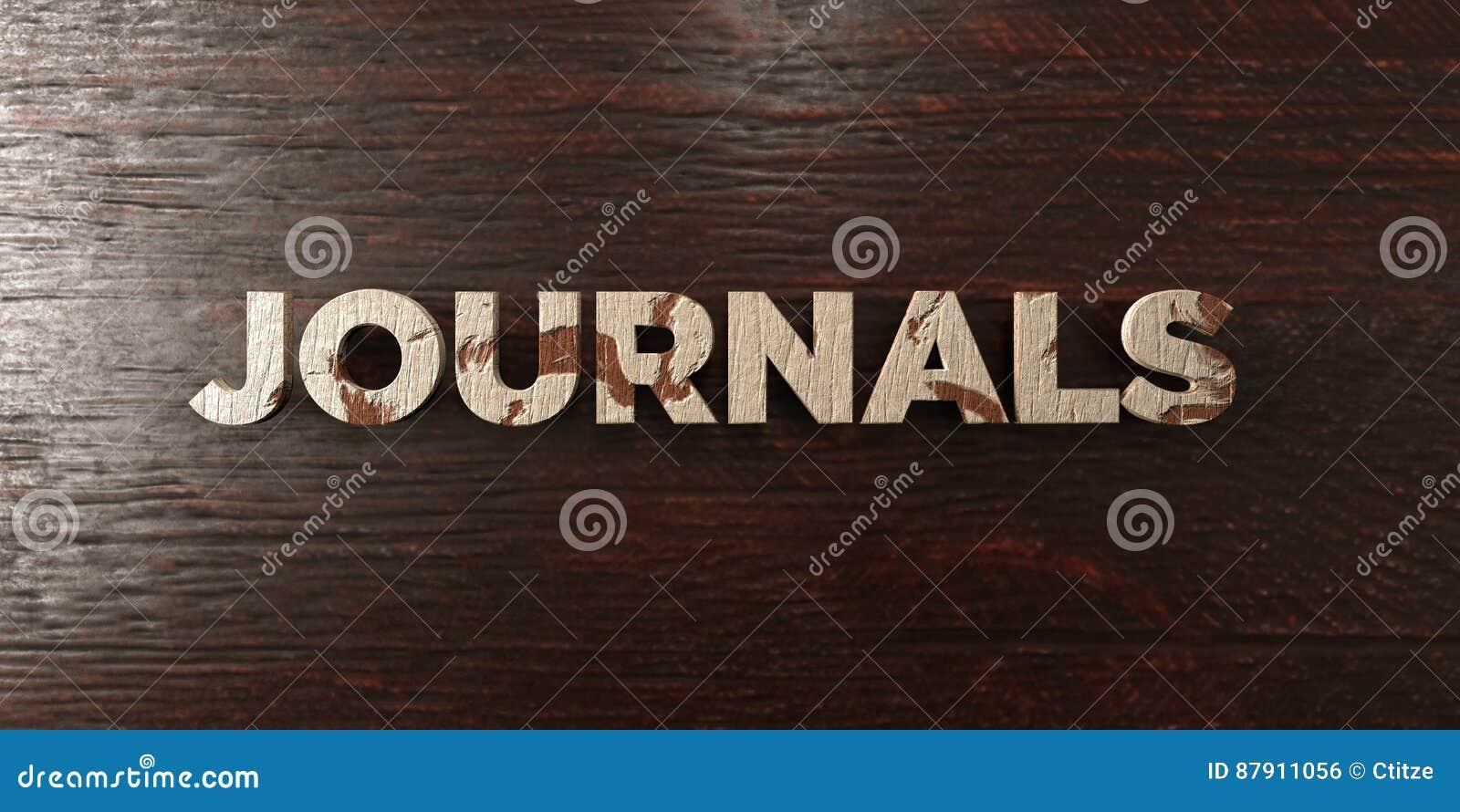 Журналы - grungy деревянный заголовок на клене - представленное 3D изображение неизрасходованного запаса королевской власти