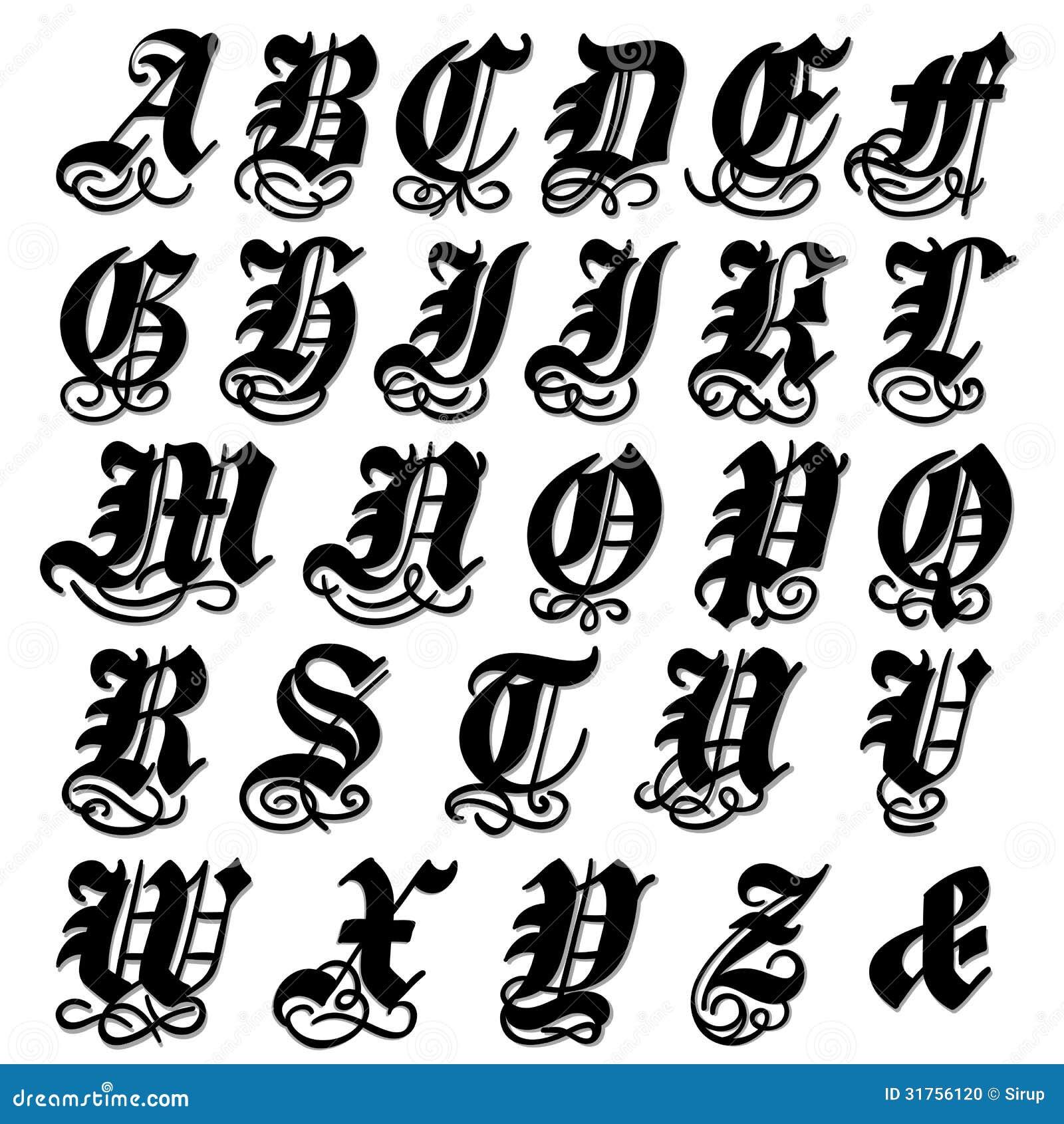 Векторные рисунки для шрифтов