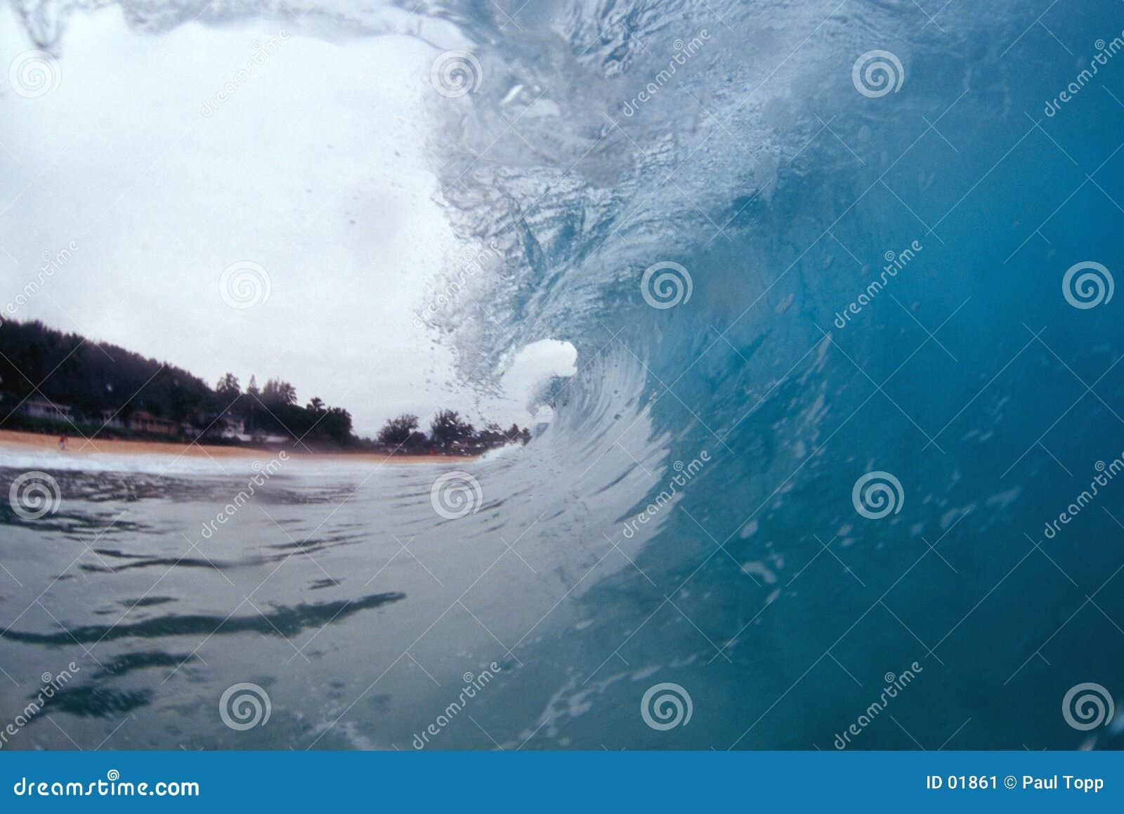 завивать внутри волны