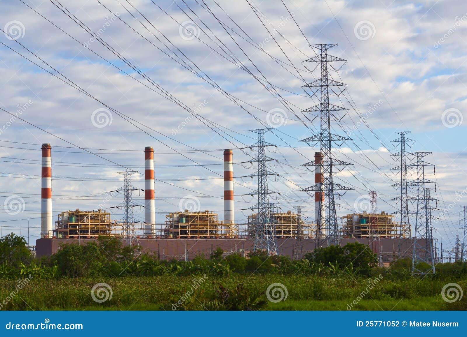 Завод и опоры электропитания