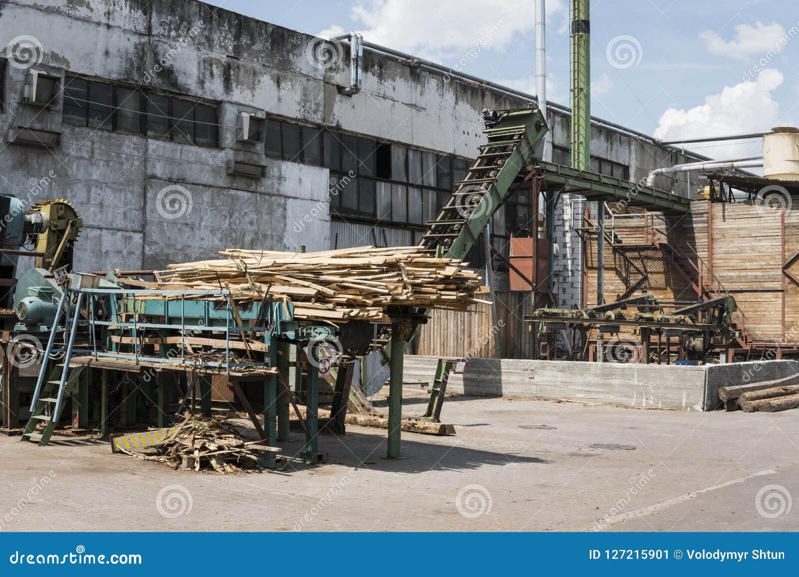 Завод лесопилки для внешний деревянный рециркулировать Обрабатывать тимберса на лесопилке