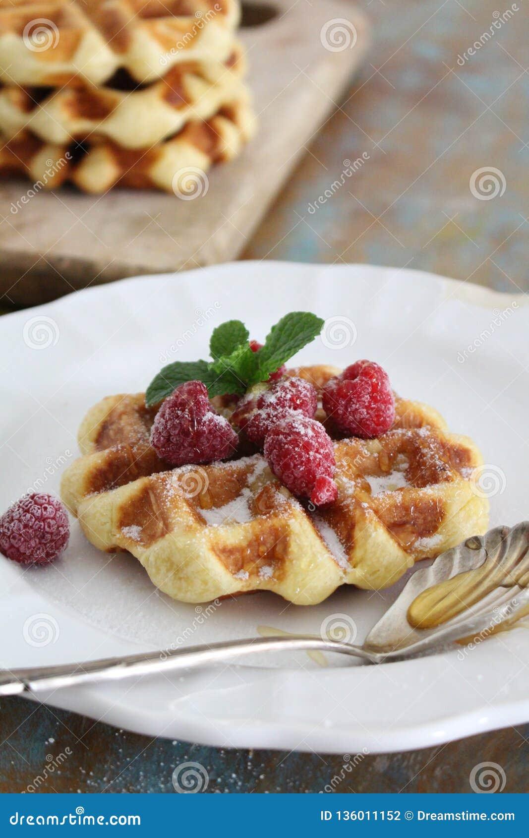 Завтрак вафли идеальный